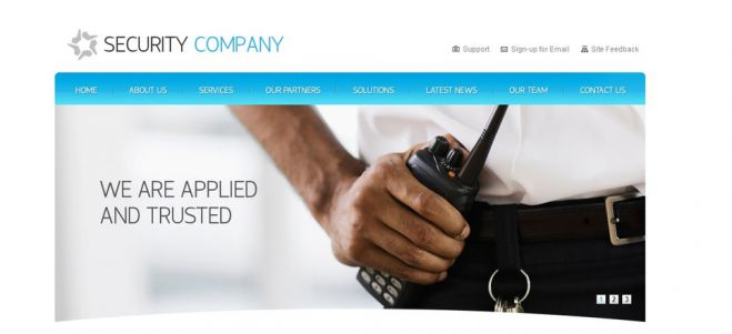 Website designs for Security Companies
