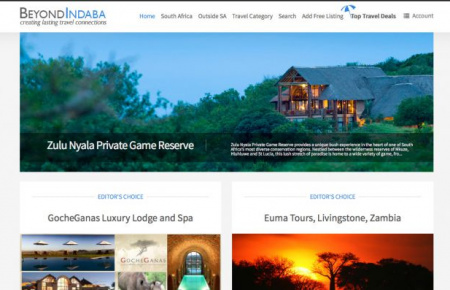 BeyondIndaba.com: Joomla based travel portal