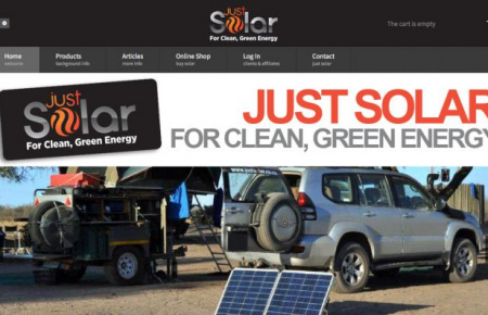 Just Solar: eCommerce website using Joomla and HikaShop